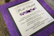 All That Glitters- Wedding and Party Invitations / Invitations with glitter and other bling for weddings, showers, birthdays, anniversaries and other special events or themed parties