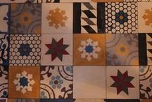 Tile Patchwork / mostly encaustic cement tiles patchwork