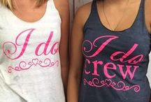 Bachelorette Party Shirts and Ideas / Planning a wedding or bachelorette party? The fun shirts and ideas will make a bachelorette party extra special!