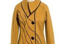 vilt kleding en shawls / kleding van vilt