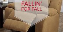 Fallin' for Fall Decor / Transition your home with fall decor and colours. Accessories can change the look of your year round furniture pieces.