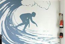 Decoración surf / Artículos de decoración relacionados con el surf y espacios decorados con estilo surfero. www.surfeten.com