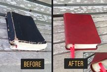 Bibles - AA Leather / We take your bibles that are falling apart and give them new life again.  We repair the binding and any loose pages and create a new cover for your bible in genuine leather.  For more information, visit our website aaleather.com