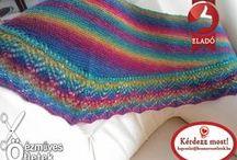 My knitted scarves - Kötött kendőim / Kézzel készült egyedi kötött kendőim