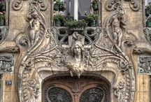 art nouveau architecture & interior elements