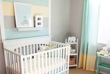 Nursery Furniture and Decor / Cribs, changers, rockers, lamps, wall art, rugs, and more for all your nursery ideas! If you'd like to be added, just follow our board and leave us a note on one of the pins!