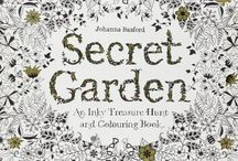 Secret Garden : Coloured / For inspiration purposes. Check out these completed pages from others for Johanna Bashford - Secret Garden