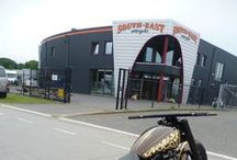 South-East motorcycles / De Groote Heeze 54, Heijen, Nederland www.south-east motorcycles.nl Harley-Davidson, Custom bikes, Harley's, Bobbers, Customs.