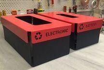 ECOBOX / Geri dönüşüm, pil kutusu, elektronik atık kutusu