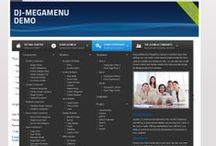 DJ-MegaMenu / DJ-MegaMenu is an advanced menu system for Joomla 3.x and Joomla 2.5 that allows you to set each menu item as you want.  You can set the amount of columns per each menu item, as well as put the modules inside. The module gives you wide range of possibilities to set up the menu you need. It's also designed with mobile in mind so you'll find many handy features.