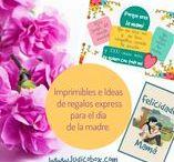 Dia de la madre-Mother's day-Fêtes des mamans / Ideas de regalos craft para mamis en su día.