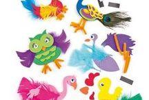 Manualidades con plumas- Feather Crafts-Loisirs créatifs avec plumes / Manualidades y proyectos creativos para niños basados en el uso de plumas como material principal de la actividad.