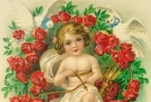 DIY Vintage Cherubs / I'm a deltiologist... meaning I collect vintage postcards! I collect CHERUBS, CUPIDS, LITTLE ANGLES and ANGELIC looking children, Victorian and Edwardian only. My collection counts around 1000 cards, so many of the cards here pinned from others are in my personal album as well. I'm slowly digitalizing my collection, and sharing it for free on my blog Wings of Whimsy. ENJOY!!