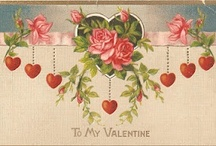 DIY Vintage Valentine / Lovely Vintage Valentine's. Mostly postcards, pre World War 1. I also have numerous valentine's from the same era on my Vintage Cherub and Vintage Rose Garden boards.