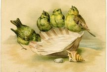 DIY Vintage Birdies