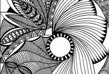 ▪■▪■ Zentangles and Doodle Art / Please only Zentangle, Doodle  type pins. If you pin your own art please note it. Please keep artist's name on pin. Pin/Repin as much as you like, no limits!
