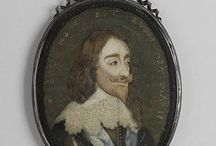 Embroidered portrait of Charles I                                                  (MMA 39.13.7) / After an engraving by Wenceslaus Hollar 1641 (Wenzel Vaclav Bohemian, Prague 1607–1677 London)   1650–70 British, Silk and metal thread on silk H. 6 x W. 4 1/2 inches (15.2 x 11.4 cm) Purchase, Mrs. Thomas J. Watson Gift, 1939.                  Accession number: 39.13.7