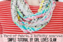 1 Yard Projects / Step by step of sewing by simply using a yard of fabric.