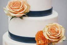 Navy / Gold / Peach / Wedding Colors