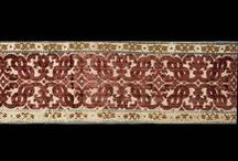 Polychrome silk velvet border. Italian, second half of 16th century. (MMA 33.95.15) / Polychrome silk velvet with 5-end satin foundation weave, voided areas, uncut, and 2 heights of cut pile. Second half 16th century.Italian. Silk. Dimensions: L. 37 1/4 x W. 8 1/4 inches (94.6 x 21.0 cm) Credit Line: Gift of Kate Read Blacque, in memory of her husband, Valentine Alexander Blacque, 1933 Accession Number: 33.95.15