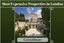 Most Expensive Properties  in London / Board by UK online estate agent: http://castlesmart.com
