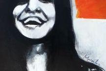 Portrait / La investigación pictórica es la base de toda creación artística, los gráficos se mezclan los colores, así como la pintura. el signo se convierte, por el artista gráfico, el elemento más importante del diseño. Único conjunto de producciones de acrílico sobre lienzo