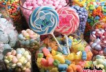Candy Buffets / Great pictures and ideas for sweet candy buffets.