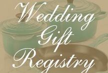 Wedding Gift Registry / A board to help you think about what to register for.