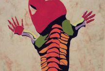 Acrylic paint / Illustrator Kazuyan