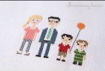 c r o s s · s t i t c h i n g / Beautiful cross-stitching ideas!
