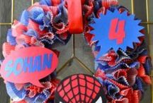 Boys super hero caravan party / Party ideas / decorations / fancy dress