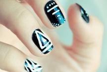 Bold Geometric Nail Art