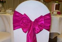Raspberry Taffeta Wedding / Beautiful raspberry taffeta sash