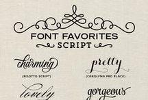 Graphique / design / fonts