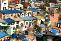 Poor hillside village / 서민들의 정겨운 삶의 모습