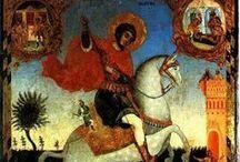 Heilige Joris de Drakendoder / Ikonen van de Heilige Joris (Georgios) de Drakendoder/ Van Ledda / by Liesbeth Smulders