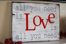 Home is where the HEART is / What we love about our homes, Valentines day decor and more.