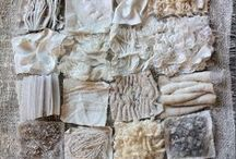 Textile Creations / Art made from fabric, textiles, string and thread