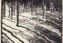 Printmaking / Monoprints, Collagraphs, Etchings, Linocuts and more - multiple original works.