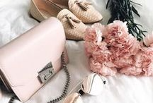 Accessories. / A board full of handbags, jewellery, purses, shoes, scarves & belts. Includes beautiful designs, designer and high street brandss, style tips and lots of inspiration.