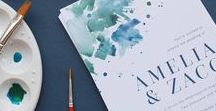 Watercolour Wedding Invitations / Wedding & event design inspiration - Artsy wedding invitations & watercolour wedding invitations