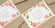 Botanical & Floral Wedding Invitations / Wedding invitation inspiration: Rustic wedding invitations, floral wedding invitations, botanical wedding invitations, and other nature-inspired invitations.