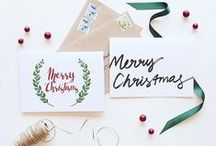 Christmas Cards / Design inspiration for all your Christmas stationery needs: Christmas cards, Christmas party invitations, Christmas gift tags, Christmas place cards and more!