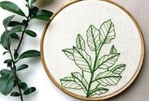 Embroidery / Hand embroidery of various kinds.
