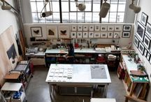 Art/Work Studios/Spaces / Artists and their spaces.