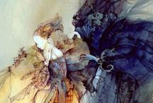 Art-Fantasy Collective / Hodge podge of different fantasy artists and their work.