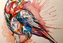 Art-Watercolors / Paintings using watercolors.