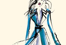 Art-Fashion Illustration / Fashion Illustration and Original Artist Fashion Sketches