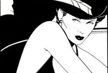 Art-Patrick Nagel / Popular 70's and 80's (mostly) illustrations from artist, Patrick Nagel. / by Roxanne Buchanan