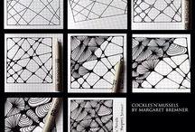 Art DIY-How to Tangle / Zentangle patterns / by Roxanne Buchanan